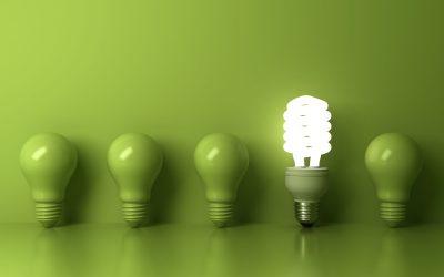groene lightbulbs